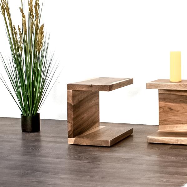 Beistelltisch aus Massivholz für das Schlafzimmer