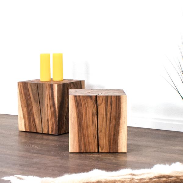 Massivholz Beistelltisch Nachttisch rustikal