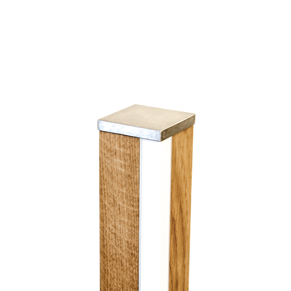 Dimmbare Led Leuchte aus Holz
