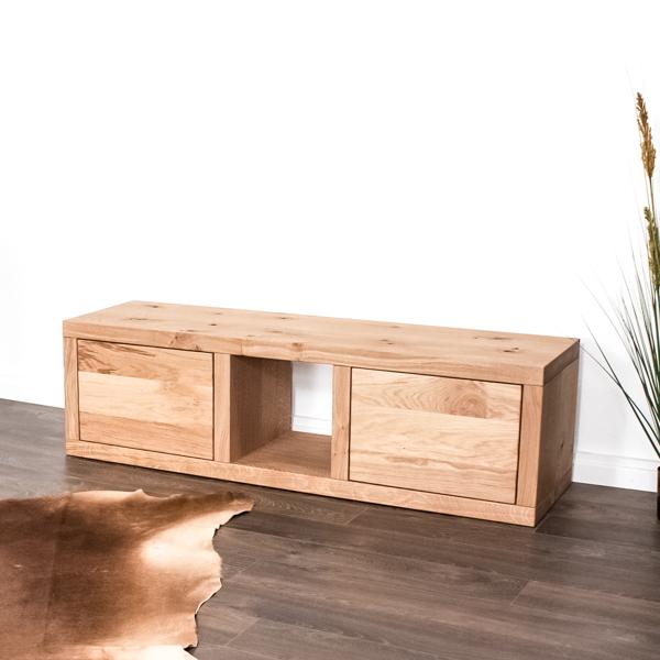 Tv-Möbel aus Massivholz in Eiche rustikal